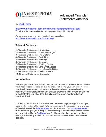 advanced financial statement analysis leons Value investing : the advanced financial statement analysis 47 (9 ratings) instead of using a simple lifetime average, udemy calculates a course's star rating by considering a number of different factors such as the number of ratings, the age of ratings, and the likelihood of fraudulent ratings.