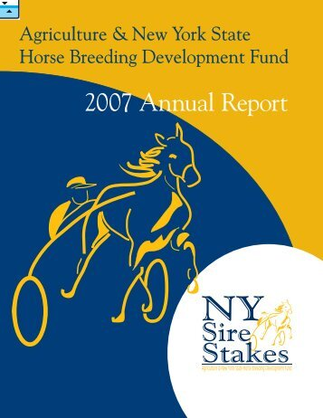 2007 Annual Report - New York Sire Stakes