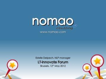 presentation nomao - LT-Innovate