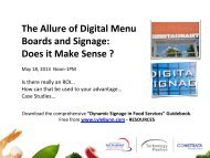 The Allure of Digital Menu Boards and Signage: Does it ... - Lyle Bunn