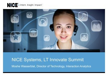 NICE Systems, LT Innovate Summit