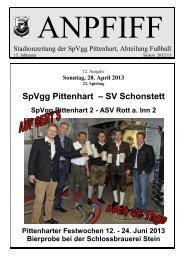 SpVgg Pittenhart – SV Schonstett