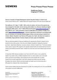 Siemens' Donation of Digital Radiography System Benefits ...
