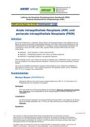 und perianale intraepitheliale Neoplasie (PAIN) - AWMF