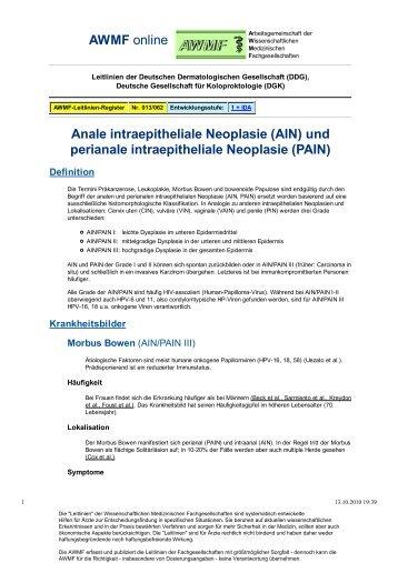 und perianale intraepitheliale Neoplasie (PAIN) - AWMF