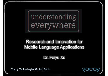 Research and Innovation for Mobile Language ... - LT-Innovate