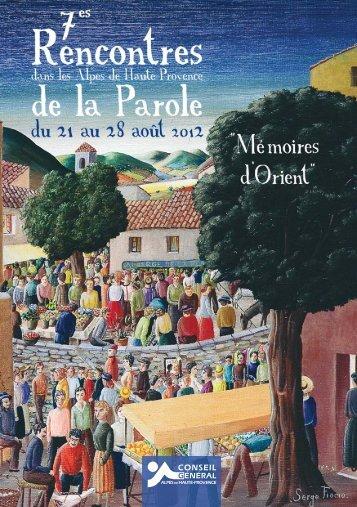 édito - Conseil Général des Alpes de Haute Provence