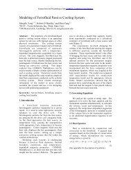 Modeling of Ferrofluid Passive Cooling System - COMSOL.com