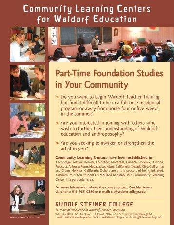 Part-Time Foundation Studies in Your Community - Rudolf Steiner ...