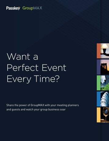 Want a Perfect Event Every Time? - Passkey