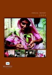 ANNUAL REPORT - Winrock International India