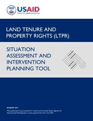 LTPR Situation Assessment and Intervention Planning Tool