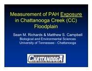Measurement of PAH Exposure in Chattanooga Creek (CC ...