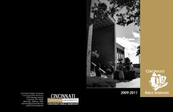 2009-2011 Seminary Catalog - Cincinnati Christian University