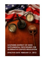 SOUTHERN DISTRICT OF OHIO SUPPLEMENTAL PROCEDURES ...