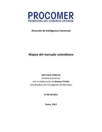 Mapeo del mercado colombiano finalx - Procomer
