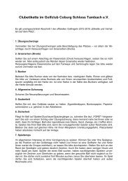 Clubetikette (PDF 67 KB) - Golf-Club Coburg Schloss Tambach eV
