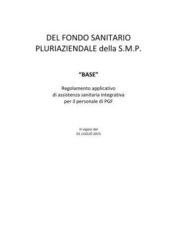 DEL FONDO SANITARIO PLURIAZIENDALE della S.M.P. - Frassati