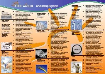 Flyer FW Saarland - Freie Wähler Quierschied