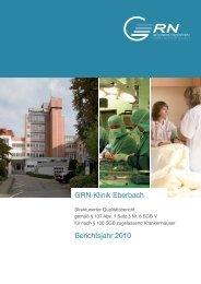 GRN•Klinik Eberbach Berichtsjahr 2010
