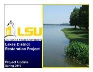 Lakes District Restoration Project