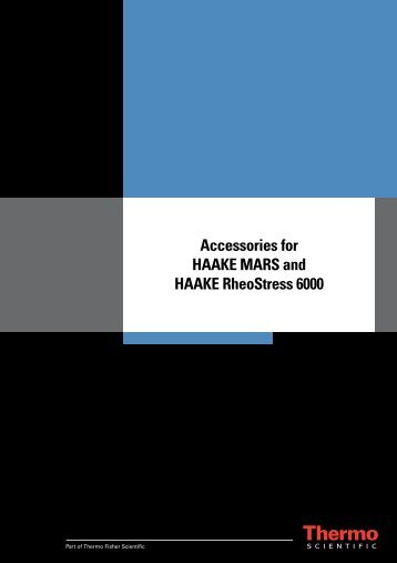 Accessories for HAAKE MARS and HAAKE RheoStress 6000