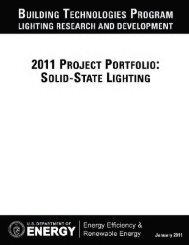 2011 Project Portfolio: Solid-State Lighting - EERE - U.S. ...