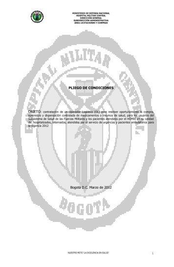 PREPLIEGO LICITACIÓN PÚBLICA - Hospital Militar