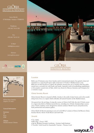 HOTELS & RESORTS SERENITY RESORT - Wayout