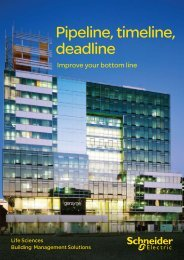 Life Sciences Building Management Solutions - Schneider Electric