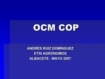 OCM Cereales - Universidad de Castilla-La Mancha