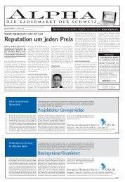 Reputation um jeden Preis - Tagesanzeiger e-paper - Tages-Anzeiger