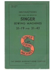 Singer Models, 31-19 & 31-47 Manual - ISMACS
