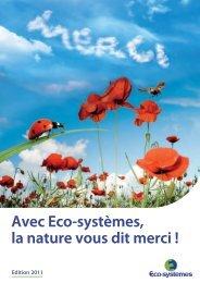 Rapport Développement Durable 2011 - Eco-systèmes