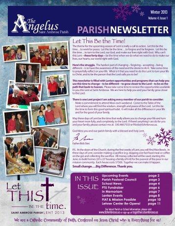 PARISHNEWSLETTER - Saint Ambrose Parish