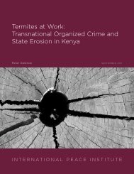 Transnational Organized Crime and State Erosion in Kenya