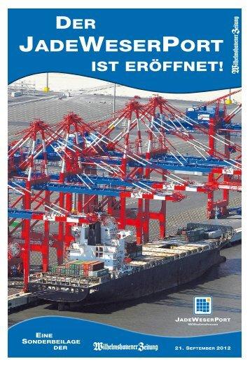 Der JadeWeserPort ist eröffnet - Wilhelmshavener Zeitung