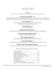 Morning Meeting Enhancements Breakfast Plated - Minneapolis Club