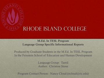 Tamil - RITELL