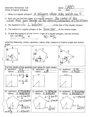Name Date Geometry Worksheet 22 Word Problems For Each