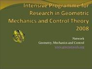 Reunión de la red temática Geometría, Mecánica y Control