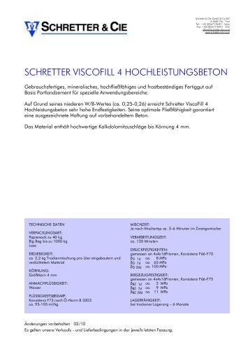 ViscoFill 4 Hochleistungsbeton - Schretter & CIE