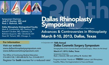 2013 Save the Date Postcard - Dallas Rhinoplasty Symposium