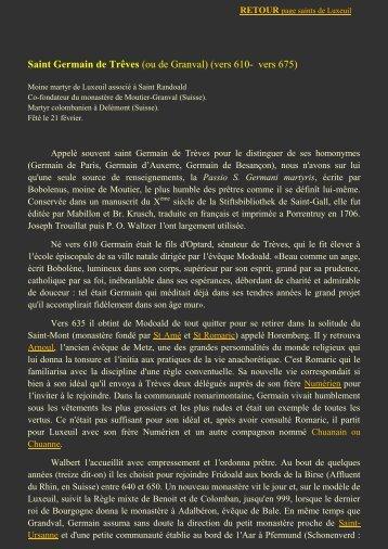 Saint Germain de Trêves - L'association des Amis de Saint Colomban