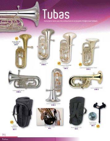 Instruments livrés avec étui, embouchure et ... - Easy catalogue