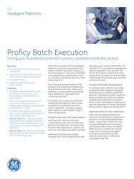 Proficy Batch Execution - Novotek