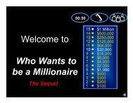 Millionaire – The Sequel