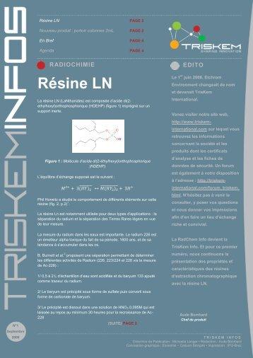 Résine LN - TrisKem International