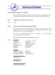 Referat bestyrelsesmøde 03-04-2007 - Albertslund Rideklub