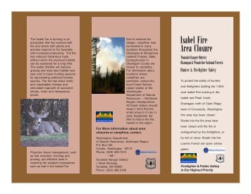 Isabel Fire Area Closure